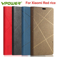 Wholesale/Retail Vpower high quality leather case for Xiaomi hongmi,xiaomi red rice phone case With Screen protector Free ship