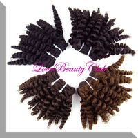 """Wholesale Ombre Bundles Kinky Curly Hair Weave Cheap Curly Hair brown #4 8"""" free shipping"""