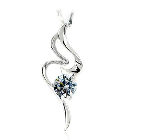 Xmas 1.01ct Luxury Quality Wedding synthetic diamond pendant 14K white gold plated Luxury pendant semi mount pendant for women(China (Mainland))