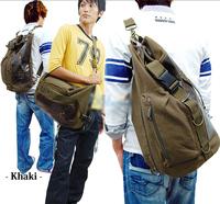 new spring 2014 messenger canvas bags men's Large capacity travel bag men portable one shoulder sports bag drum outdoor backpack