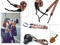 30PCS Universal Color Stripes Soft red Camera Neck Straps Shoulder Strap Belt Grip For DSLR N/C/ Panasonic S/ Pentax