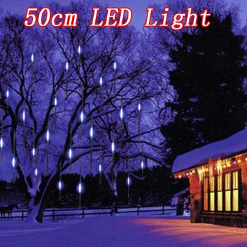 192 LED Lamp beads Meteor Shower Rain Tube Lights New year Christmas Tree light Festival Decoration 8X 50cm suit free shipping