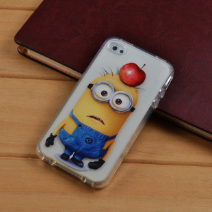 Soft Cartoon Despicable Me Clear Case for Iphone 4 4S TPU Cover i Cell phone Cases iphone4 covers Free shipping(China (Mainland))