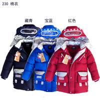 Children's Winter Hoody Coat Boys Girls warm outerwear child wadded jacket down coat outerwear freeshipping