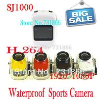 Full HD Waterproof Camera 1080P Sports Helmet Action Mini Video Camera SJ1000 Car DVR /Bike/Surfing/Outdoor Sport Free shipping