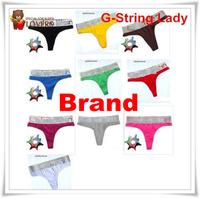 Free shipping 4pcs/Lot Brand T cotton pants temptation thongs women's G-string underwear women'panties Silver edge 16 colors