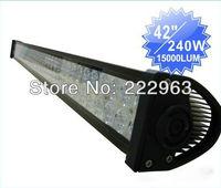 "2pcs 42"" 240W LED Light Bar Off-Road 9-32V Boat 80-LED*(3W Epistar) Spot Flood Combo Beam Jeep Truck Lamp IP67"