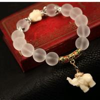 Hot Sale Polish Crystal Beads Elephants Charm Bracelets Bangles For Women Hand Chain Christmas Gift Free Shipping Pulseira