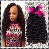 Brazilian Virgin Hair Deep Curly Human Hair Extension 4Pcs Lot  Virgin Brazilian Hair Weave Queena Hair Products Grade 5A