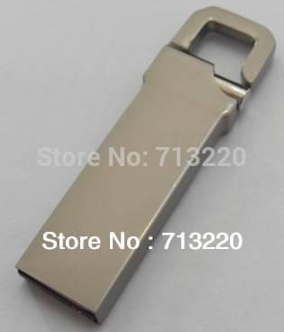 Genuine True Capacity! NO Upgrade! 8gb Mini bag Key Chain Flash 64GB Pen Drive Disk Hook Lock Metal USB Flash Drives(China (Mainland))