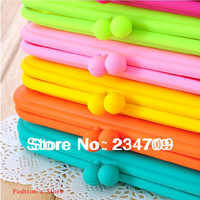 large Candy color silicone zero wallet/lovely buckle/women messenger bags /coin purse/ wallets/ handbags,1 pcs/lot