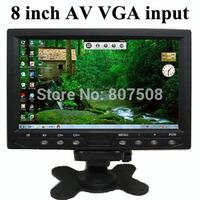 8 inch TFT LCD car rear view monitors with VGA AV input, 800*480 RGB 60Hz