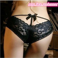 Free shipping +wholesale Perspective sexy panties lace decoration sweet sexy t T sexy women panties,women thongs