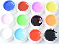 12 pcs Colors Pure Colour uv gel, Uv gel Set, Builder Gel for nail art