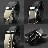 men  genuine leather belts Auto lock steel buckle belt for men business  belt/waist belt free shipping 11 styles