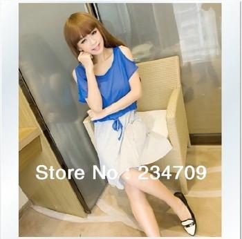 black Han edition twinset chiffon dress/dresses new fashion 2013/dress women/bodycon dress,1 pcs/lot