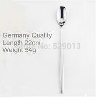 European fashion German Quality 22cm long handle Stainless steel ice spoon juice icecream scoop coffee stiring ladle