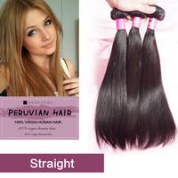6A Unprocessed Virgin Peruvian Hair 2Pcs/Lot  Peruvian Straight Virgin Hair Cheap Price 8-30 inch Peruvian Hair Free Shipping