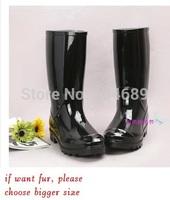 autumn -summer snow fur rain boots gumboots waterproof winter ankle for women leather botte womens new 2013 shoes botas gumshoes