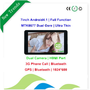 Thin 7 inch tablet pc 3g sim card slot phone call 2G Phone GPS,WIFI Bluetooth TFT LCD Capacitive Screen 512MB 4G Android 4.1.2