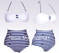 Free Shipping Drop ship New HIGH WAISTED Bikini ladies swimwear women's tankini suits cheap sexy swimsuits