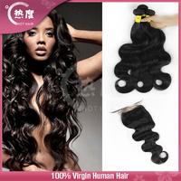 AAAAAA 3 bundles brazilian human hair with closure brazilian virgin hair with closure brazilian body wave with closure