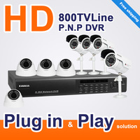 KAVASS 8CH DVR KIT 8 CMOS 800TVL IR camera CCTV home Security video Surveillance system 8C80013