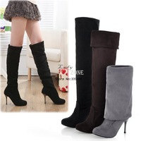 Hot Fashion Women's Elegant Suede Over the Knee Thigh Stretchy High Heels Boot Shoes 3 Colors 4Size 9031