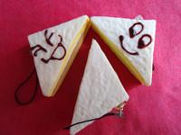 New 6.5cm Phone Charm Squishys Free Shipping QQ Expression Sandwich Rare Squishy Bread/Mobil Phone Straps