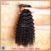 "malaysian virgin hair deep curly 5a 3pc 8""-30"" Realove Human Hair Weaves malaysian curly hair extension malaysian deep wave nice"