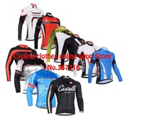 6 styles Hot sell! 2013 bianchi Cycling Jersey  Long Sleeve cycling clothing / ciclismo maillot for Spring&Autumn Free Shipping!