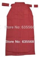 High Quality Red Kendo Iaido Aikido Hakama Martial Arts Uniform Sportswear Kimono Dobok Free Shipping