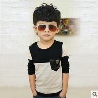 Free shipping 2014 New spring and winter HOT Multicolor Children's T-shirt boy  long sleeves T shirts Child Children's Clothing