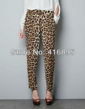 Fashion Women Sexy Casual Leopard Loose Pant XXL SIZE Pants