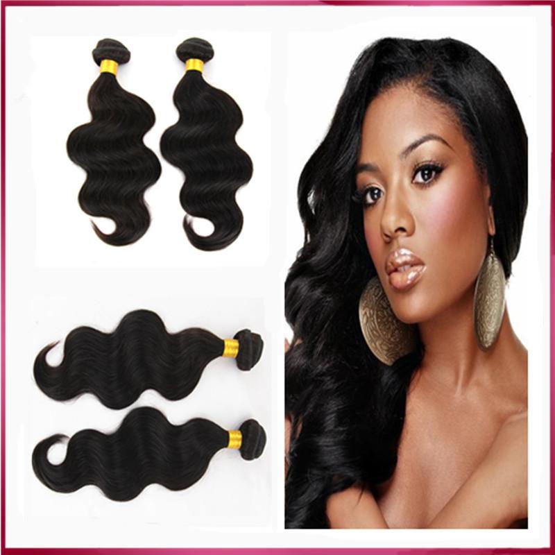 Hot Beauty Ms lula Hair Wave Natural Black Color Mix Size 3 bunldes per lot rosa hair products brizilian body wavy hair(China (Mainland))