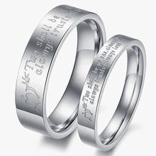 Korean fashion style stone mandrel ring titanium steel ring  couple rings heart