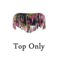 2014 Dropshipping! Tassel Bikini Top Only(No panties) Cheap Sexy Swimwear Colored Swimsuits Tops 1331