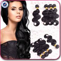 Top 5A malaysian virgin hair body wave 3pcs lot free shipping wholesale malaysian body wave human hair weave natural black hair