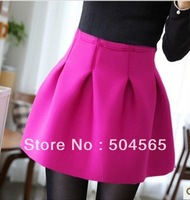 2014 New Fashion Bud Skirt Women's High-waist Tutu Ball Gown Summer Mini Skirts SK-007 5 Colors