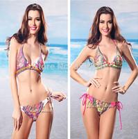 2014 New Style Floral Swimwear Women Padded Swimsuit Lady Bikini Set Hot Sale Bathing Suit High Fashion Beachwear