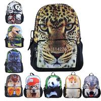 2014 leopard school backpacks, best selling animal Printing the school knapsack, BBP101,shoulder bag