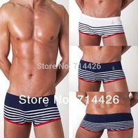 Free shipping!! Sexy striped underwear Men's Boxer shorts Men's Underwear Mens shorts, 2Colors C-323