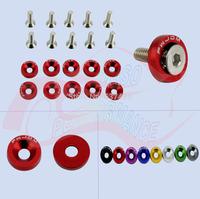 10PCS/SET JDM Aluminum Car Fender Washers For Honda Civic Integra RSX EK S2000 (with JDM Logo)
