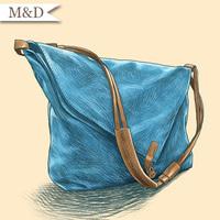 Vintage Lady Shoulder Bag Retro Specific Messenger Bag Canvas Desigual Bag Women Canvas Bag Cross Body