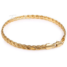 5MM Gold Filled Necklace Chain Mens Chain Womens Necklace Hammered Flat Wheat chain Wholesale Bulk Price