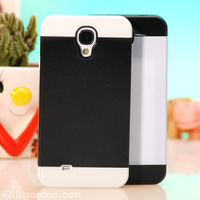 Fashion Plastic hard back cover TPU soft Rubber Hybrid case for Samsung Galaxy S4 i9500 Protective Shell