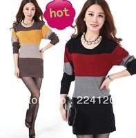 Free shipping women cashmere sweater Women dress medium-long  pullovers long-sleeve cashmere sweater women  large size S-XXXL