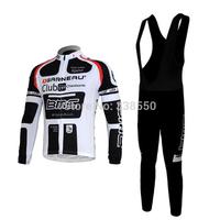 New Long Sleeve cycling jersey/ cycling clothing mens +BIB pants Cycling Sport Wear bicycle Clothing S-3XL