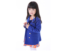 Free Shipping 1311712A Kids Top High quality Double Breasted Girls Wool Winter Coats Children Wool Jacket Baby Girls Warm Coat