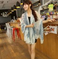 Chiffon female autumn -summer women soccer scarves shawls necklaces & pendants 2014  Porcelain Style free shipping multi-colors